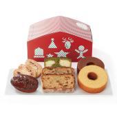 ハウス型のBOXにクリスマス限定のシュトーレンや、りんごのマドレーヌなど、わくわくするような人気の焼...