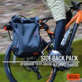 DBM400-GY サイドバックパックは、スポーティなデザインが多い一般的なサイクルバッグと異なり、...