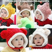 シンプルながら一目で可愛い感じたっぷりのウィンターニット帽子です☆ 定番人気の5カラーのバリエーショ...
