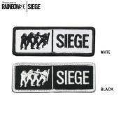 RAINBOW SIX公式SIEGE突入刺繍ワッペン タイトルの包囲を意味するSIEGEとチームを刺...