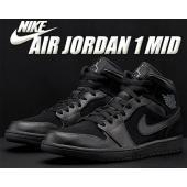NIKE AIR JORDAN 1 MID black/dark grey-black  バスケット...