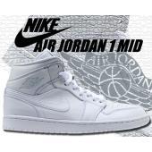 NIKE AIR JORDAN 1 MID white/p.platinum-wht バスケットボー...