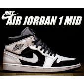 NIKE AIR JORDAN 1 MID white/black-white  バスケットボールの...