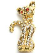 ■商品詳細 ゜.:*♪人気商品゜.:*♪  ☆レディースブローチ☆  素敵なストーンカラー 猫モチー...