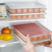 積み重ね可!タッパー底の卵用くぼみに卵がフィット! 大容量の卵用タッパーケースです!! 家族が増えて...