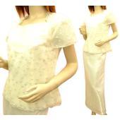 【在庫限り】★トップス ブラウス スカートだけお使いになられてもとってもお得なツーピースドレスです ...