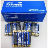 KOYO アルカリ乾電池(単三形)4本×10パック ネコポス発送