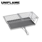 ユニフレーム fanマルチロ-スタ- 焼き網の置き方を替えるだけで、トースターを2枚コンガリと焼ける...