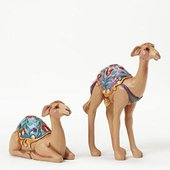 Jim Shore Heartwood Creek Set of Two Camels-Mini N...