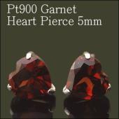 どっしりと重量感のある赤茶色が 大人の女性にぴったりの色合い♪  ハートカット5mmのガーネットと贅...