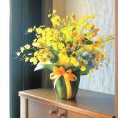 ■アートフラワーアレンジメント(光触媒造花)光の楽園 ゴールドストライクは、お部屋のアクセントや空間...