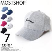 メンズキャップ/帽子レディース男女兼用ユニセックス フロントに雰囲気のあるアーチ状の筆記体ロゴをワン...
