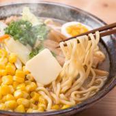 【コクのある秘伝の味噌スープとモチモチの麺が相性抜群の逸品。】 厳選した小麦粉(一等粉)100%使用...