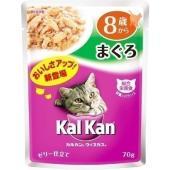 高齢猫がおいしく食べられるよう、素材を厳選し、カルカン特製だし(R)でさっと煮込み、ジューシーなゼリ...