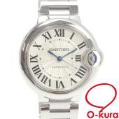 中古 カルティエ 腕時計 バロン ブルー ドゥ カルティエ ウォッチ レディース オートマ SS W...