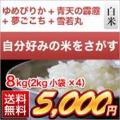 平成30年(2018年) 新品種満載食べ比べセット 8kg(2kg×4袋)【送料無料】