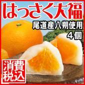スイーツ ギフト 甘酸っぱい八朔の果実と白あん、餅がマッチした大福です。剥いた八朔の果実を内皮となる...