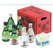 昔なつかしい富山の薬箱を模した化粧箱に入った富山の地酒セットです。 一合瓶のお酒が6本入。紙風船付き...