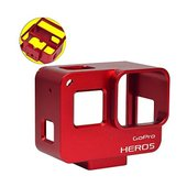 [MENGS] アルミ合金の保護枠のハウジングケース き バックカバー付き,Gopro Hero 5...