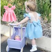 レース&フリル&リボンが女の子らしい可愛ドレスです。 結婚式などのパーティーシーンにお勧めです♪  ...