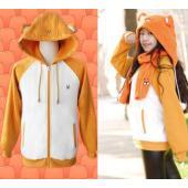 セット内容:上着*1  別購入:マフラー 1580円 カラー:オレンジ サイズ:S M L XL  ...