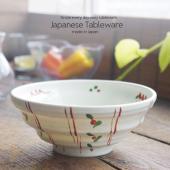 和食器 絶品野菜たっぷり丼 どんぶり 手描き赤絵 レッド ボウル 陶器 うつわ おうち 食器 しっと...