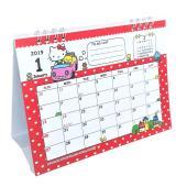 毎月異なるキティーちゃんのイラストが楽しめる2019年卓上カレンダーです。  卓上タイプでちょっとし...