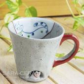 ★内容:有田焼 国右ェ門窯 ねこが住んでいる マグカップ キャット ネコ 猫 ★サイズ:口径90×高...