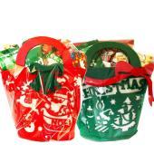 クリスマスお菓子人気の持ち手シリーズにたっぷり入るトートバッグ今年も販売してます!!クリスマスフェル...
