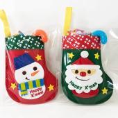 クリスマスお菓子お洒落なフェルト製ブーツにお菓子を詰め合わせました。マスコットが「ぷくっと」とっても...
