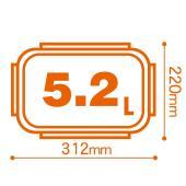 ハウディ 4点ロック密封保存容器 4lockscontainer 長方形 5.2L HT-120