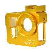 MENGS アルミ合金製 ハウジングメタル 保護ケース 37mmのUVフィルター,Gopro Her...