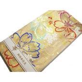 ★西陣証紙番号23692番 (株)京都イシハラ謹製の可愛くてとても豪華な正絹振袖用袋帯です。当店で綿...