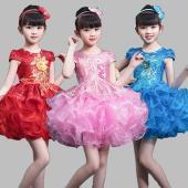商品名:キッズ パニエ スカート スパンコール ダンス 衣装 女の子 ドレス セット内容:ワンピース...