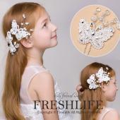 商品番号:fl1066-ps02 商品詳細:まるで本物の蝶みたい子供髪飾りです。ライストーンとビーズ...