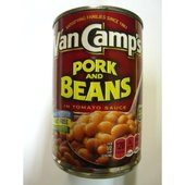 缶を開ければアメリカンテイストなポークビーンズです。 トマトソースベースです。 チリコンカン(チリコ...