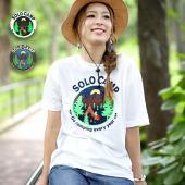◆商品について◆  キャンプをしている様子が可愛くプリントされたTシャツ。 夜空なのが大人カジュアル...