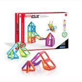 新感覚!マグネットブロック。小さなお子様でも簡単に組み立てられる!幾何学模様のマグネットブロックは小...