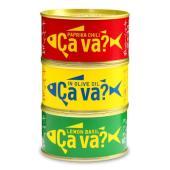 パプリカチリ、レモンバジル、オリーブオイル漬サバ缶3種セット