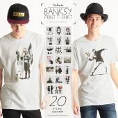 サイズや素材の詳細はこちら/Tシャツ/バンクシー/banksy/FRUIT OF THE LOOM/...