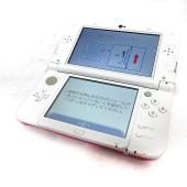 new ニンテンドー3DS LL RED-001 ピンク × ホワイト 本体 ゲームハード 任天堂【...