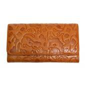 →財布多数出品中←  猫柄の型押し財布です。  サイズ:幅18.0cm 高さ9.8cm 厚み3.5c...