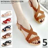 商品名:ストレッチストラップサンダル Stretchy strap sandal   (サイズ) 2...