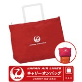 キャリーオンバッグ JAL 日本航空 Japan Air Airlines  鶴丸 JAL LOGO...