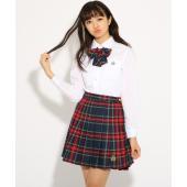bdc1590f522600 PINK-latte(ピンク ラテ)【卒服】リボンタイ付 チェック プリーツ スカート