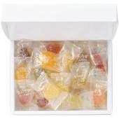 「宝石のお菓子」として人気の彩り豊かな15種のフルーツゼリー。味も形もこだわったやさしい果実のおいし...