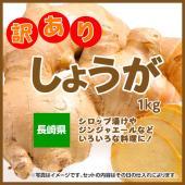 名称:生姜 原産地:長崎県産 内容量:1kg 保存方法:生ものですのでお早めにお食べください。
