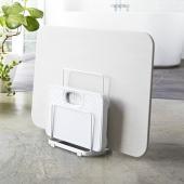 ■珪藻土バスマットをおしゃれに収納 置き場に困る珪藻土バスマットや体重計を、立てて収納できるスタンド...