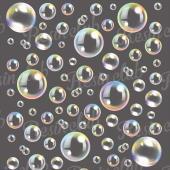 レジン液に封入して楽しい埋め込みシールに新商品が登場!七色のシャボン玉が美しい世界観を表現してくれま...