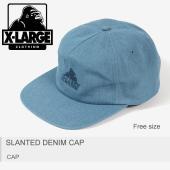 0b9e915112c □ITEM X-LARGEより「スランテッド デニム ハット」です。 爽やかなブルー